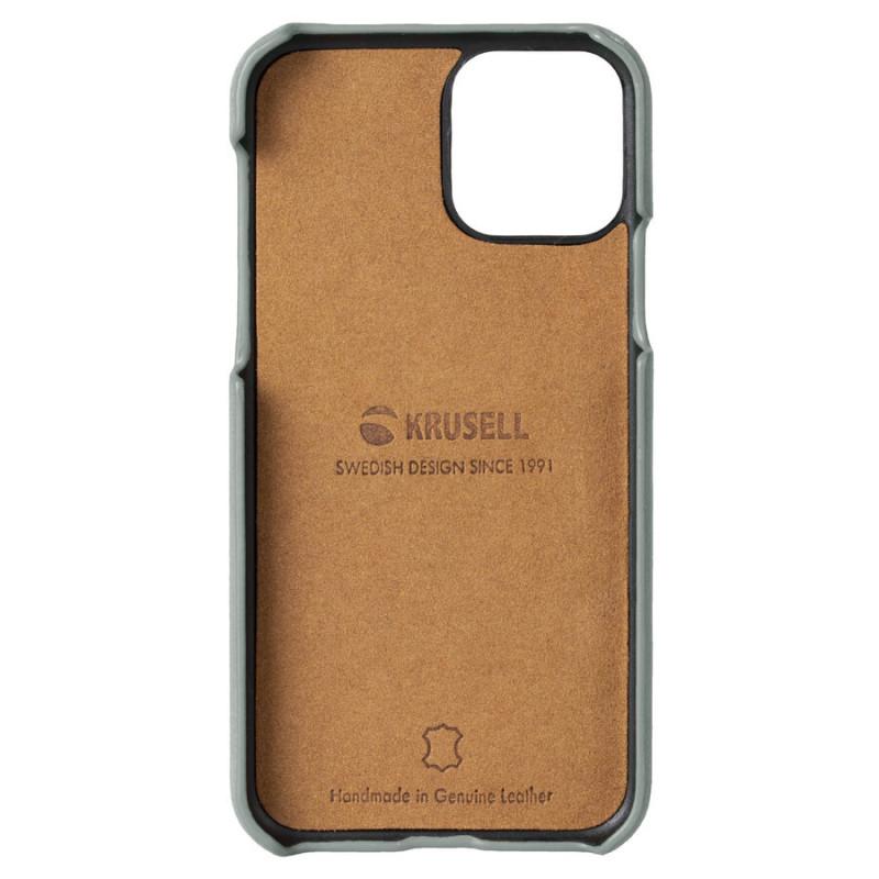 Гръб Krusell Sunne CardCover естествена кожа за Iphone 11 Vintage - Сив