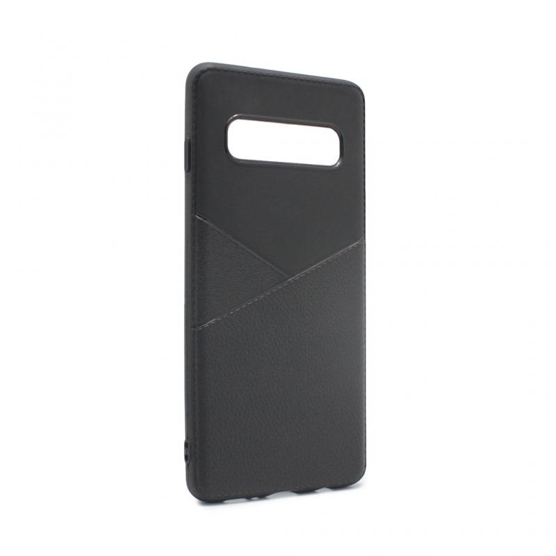 Гръб Teracell Y-Leather за Samsung G973 S10 - Чере...