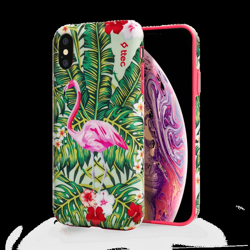 Гръб ttec ArtCase за iPhone XS Max - Flamingo Gard...