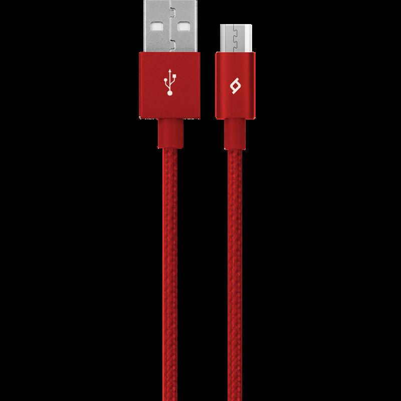 Кабел AlumiCable Micro USB Charge/Data Cable, Черв...