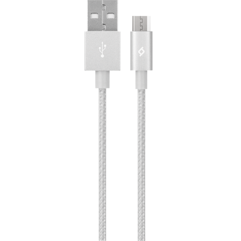 Кабел AlumiCable Micro USB Charge/Data Cable, Среб...