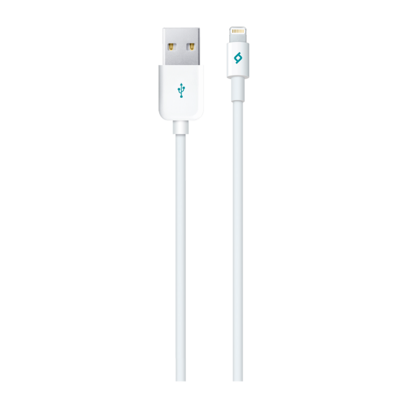 Кабел MFI AlumiCable Lightning Charge/Data Cable -  Бял,113402
