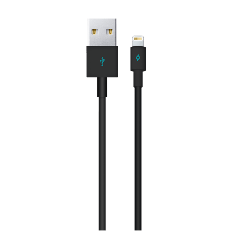 Кабел MFI AlumiCable Lightning Charge/Data Cable - Черен