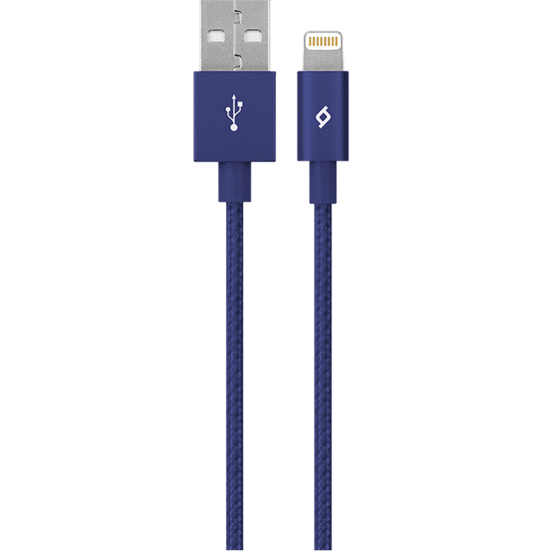 Кабел MFI AlumiCable Lightning Charge/Data Cable - Син,116246