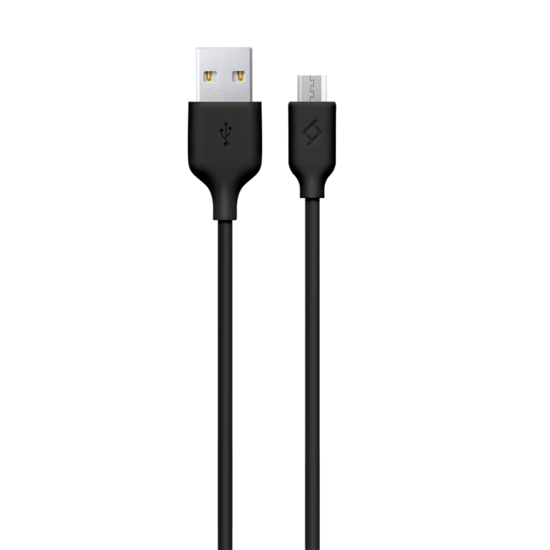 Кабел New Micro USB Charge/Data Cable - Черен, 117...