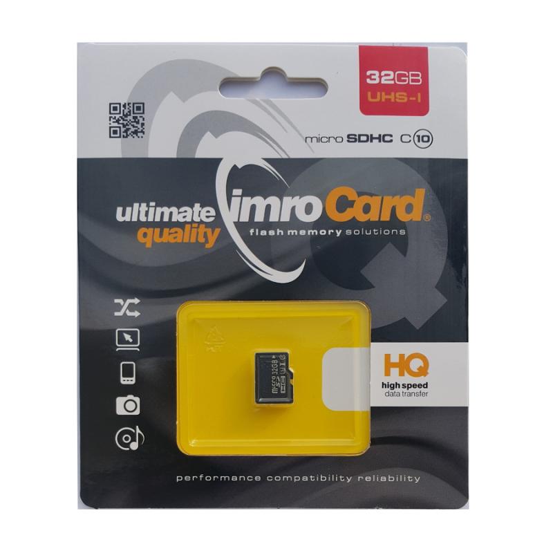Карта памет IMRO Memory MicroSD Card - 32GB без ад...