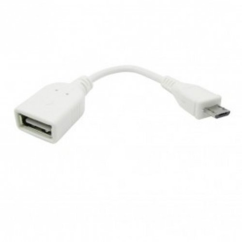 OTG micro USB кабeл бял R54-A2