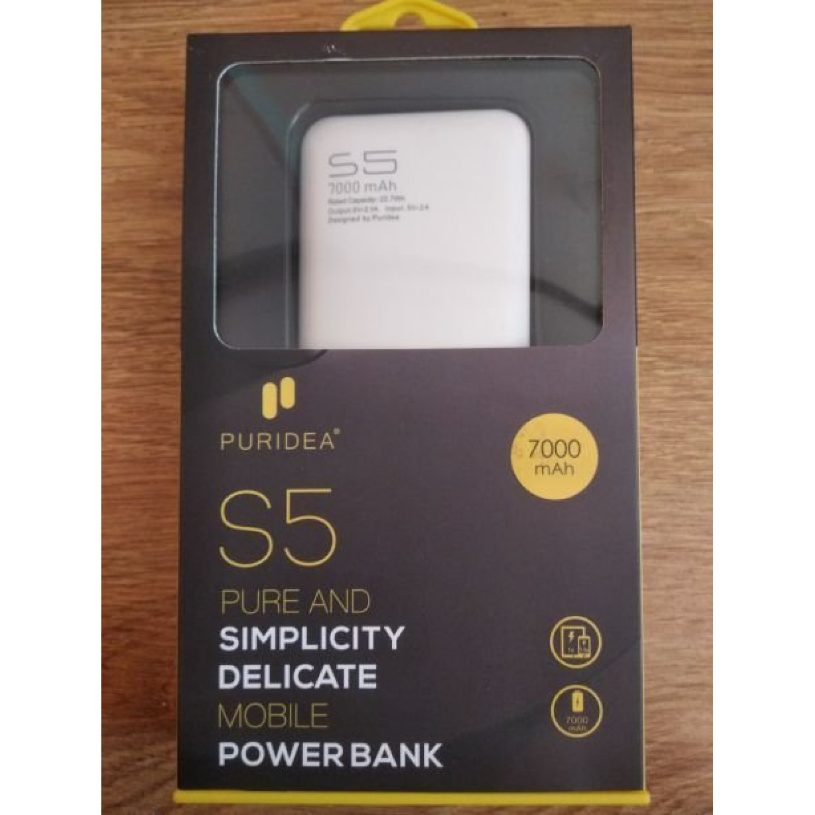 Power Bank PURIDEA S5 7000mAh сива