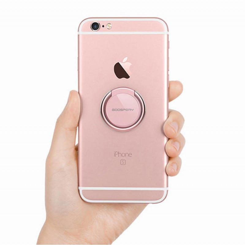 Пръстен за телефон Mercury round – Светло розов...