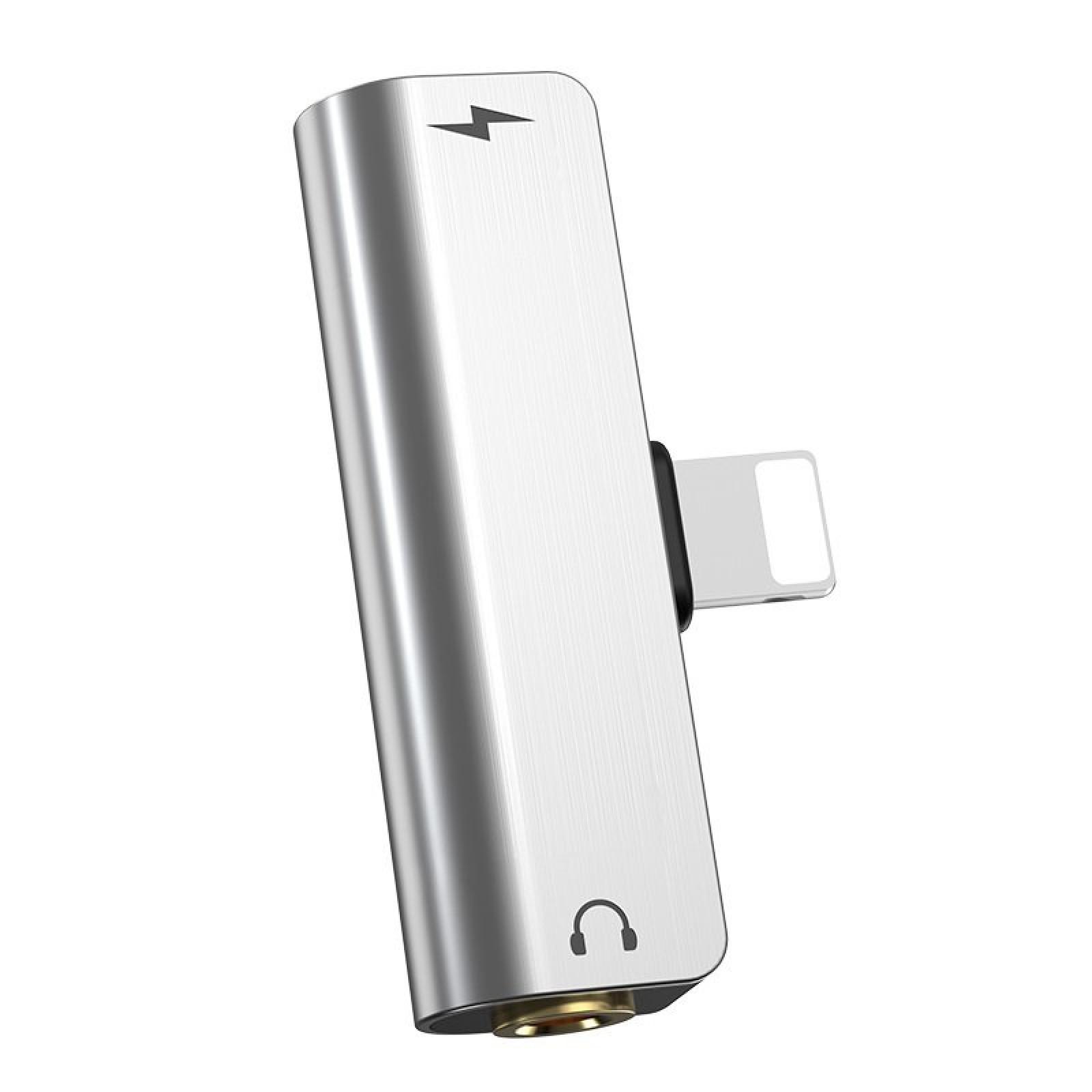 Преходник Hoco LS25 Digital 3.5 audio converter for Apple - Сребрист