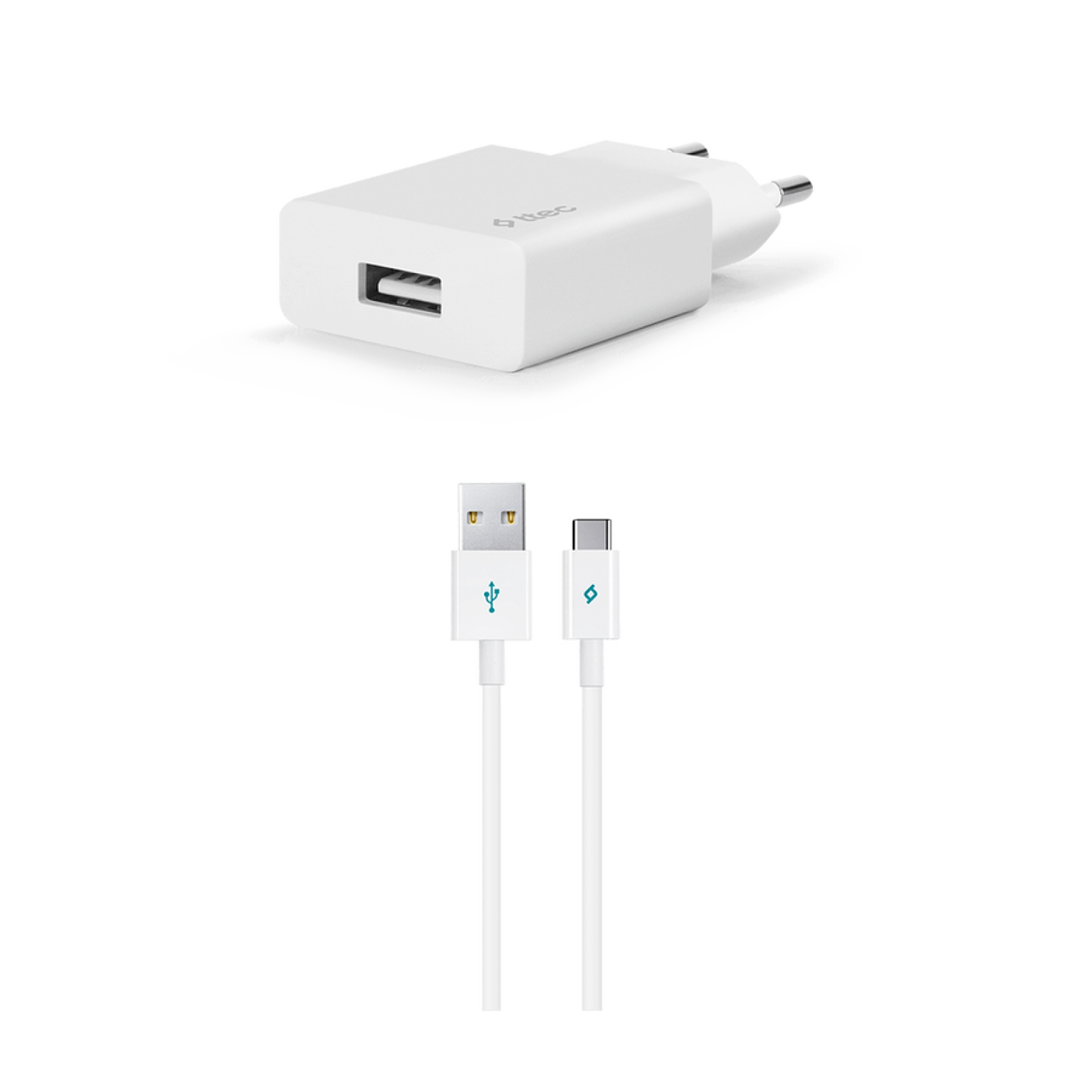 Зарядно 220V SmartCharger USB Travel Charger, 2.1A, incl. Type C  Cable - Бяло,116904
