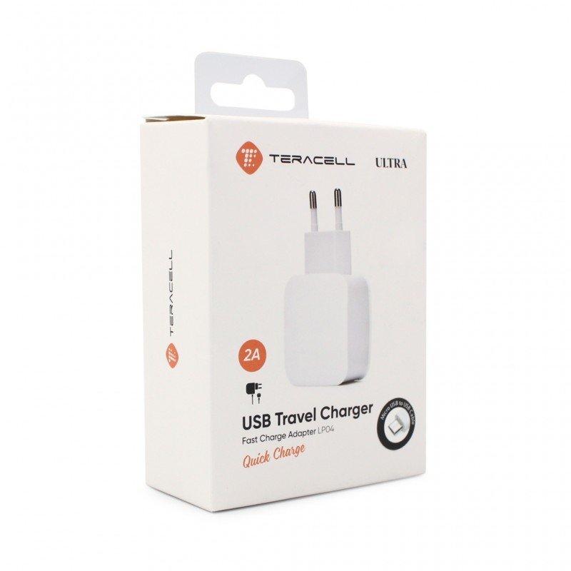 Зарядно 220V Teracell Ultra Fast LP04 QC 2A с type...