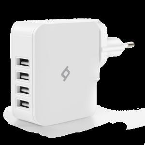 Зарядно Quattro USB Travel Charger, 5.1A, 4 USB Po...
