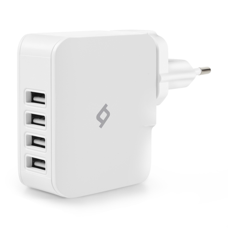 Зарядно Quattro USB Travel Charger, 5.1A, 4 USB Po...