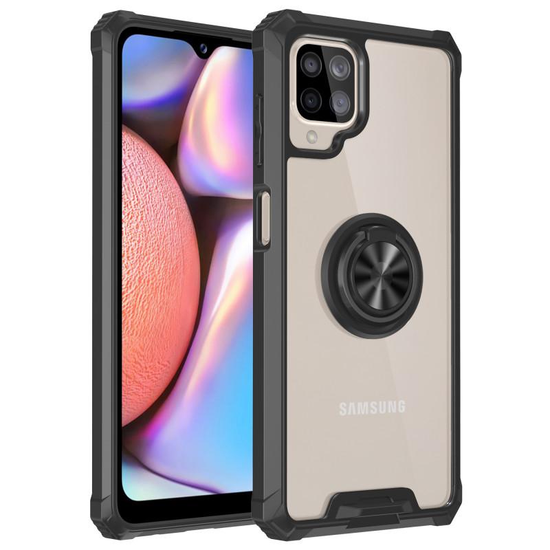 Гръб Military ring за Samsung Galaxy A22 5G - Черен