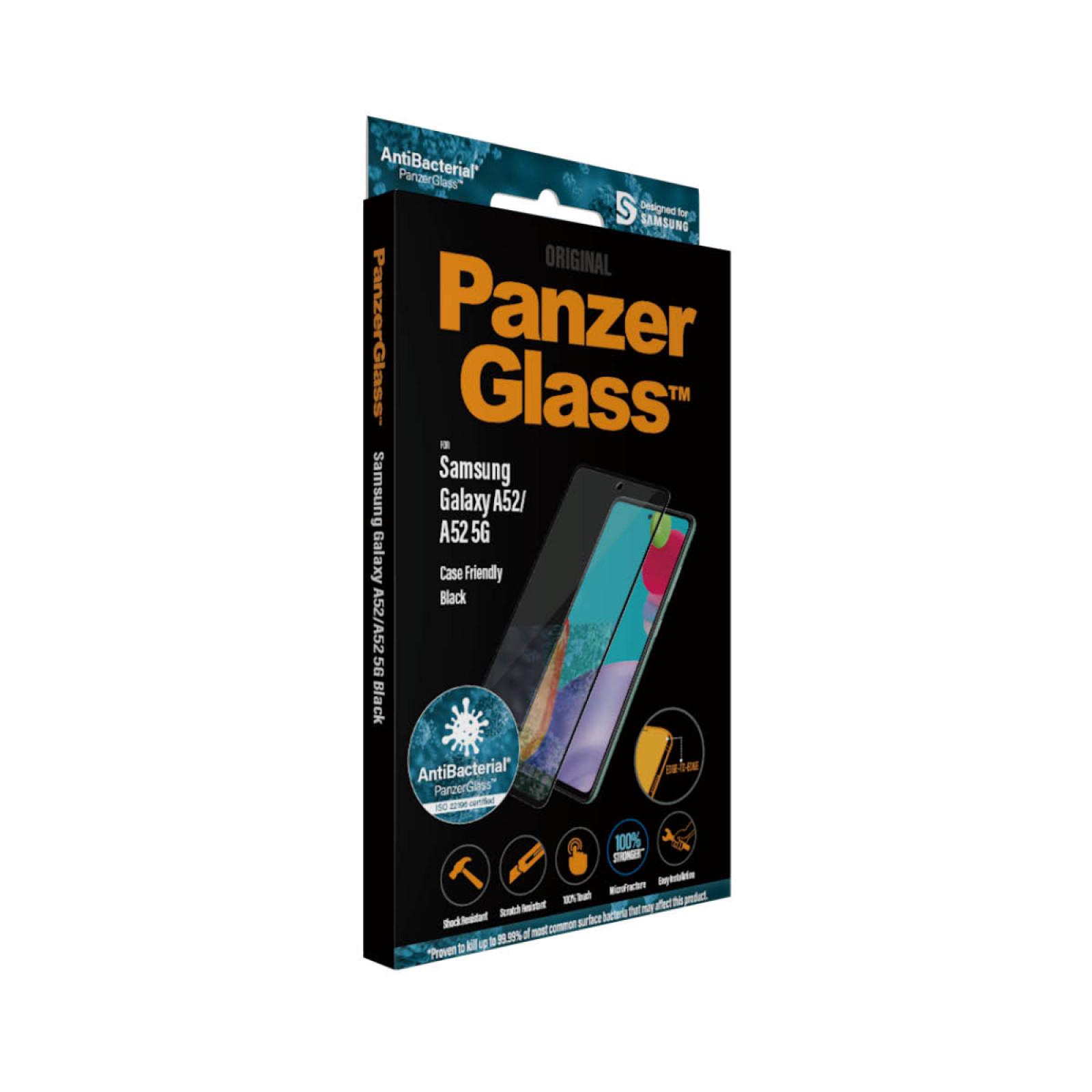 Стъклен протектор PanzerGlass за Samsung A52  Case Friendly - Черен