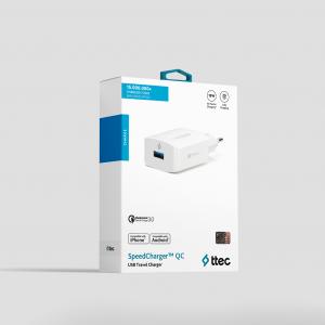 Адаптер ttec SpeedCharger QC 3.0 Travel Charger, 1...