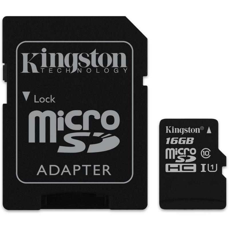 Мемори карта Kingston Ultra SDCS/16GBSP с адаптер...