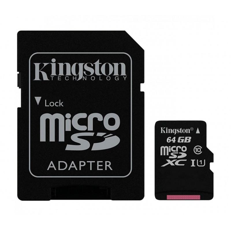 Мемори карта Kingston Ultra SDCS/64GBSP с адаптер...