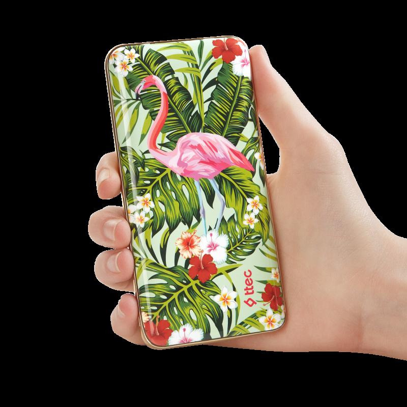 Външна батерия ArtPower Universal Mobile Charger 8.000 mAh, Flamingo,116267
