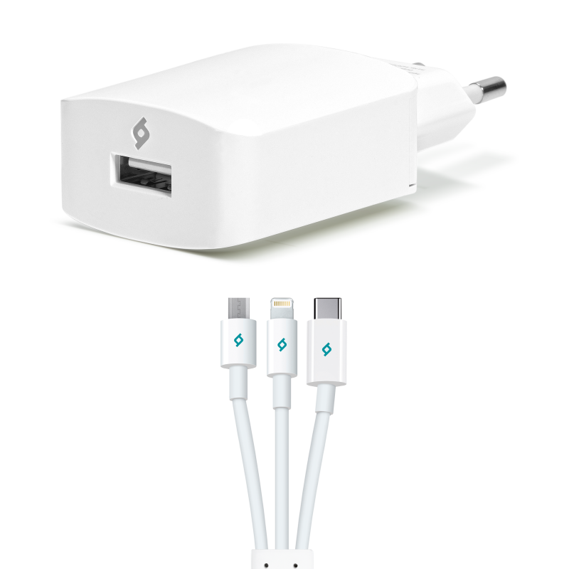 Зарядно 220 V ttec SpeedCharger Trio  USB Travel C...