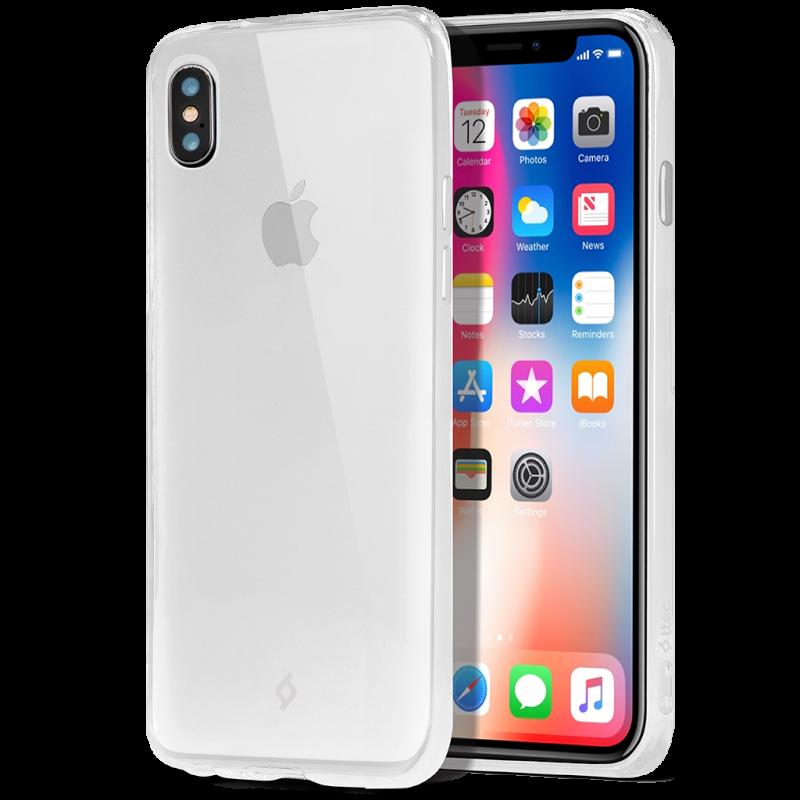 Гръб ttec SuperSlim за iPhone X/XS - Прозрачен, 11...