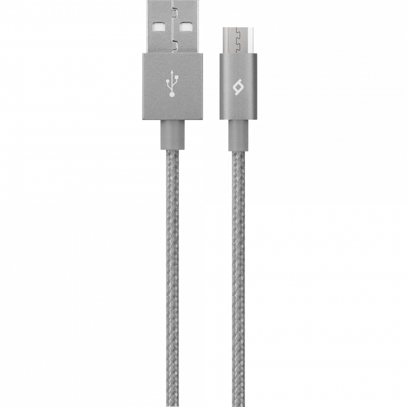 Кабел AlumiCable Micro USB Charge/Data Cable - Сив...